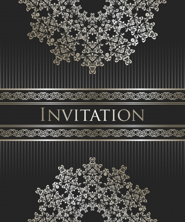 Vintage seamless background with an elegant lace pattern and ribbon. Retro style     Vector