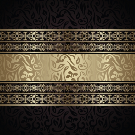 decorative lines: Vintage seamless wallpaper with a ribbon. Can be used as invitation or card