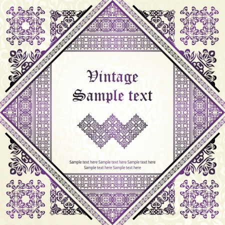 Vintage seamless background with abstract pattern. Original style     Vector