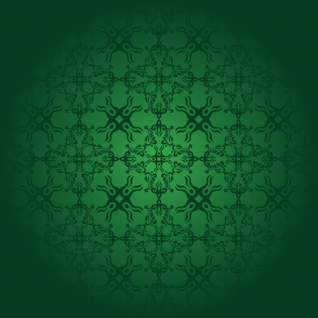Seamless vintage background in green. Seamless wallpaper    Vector