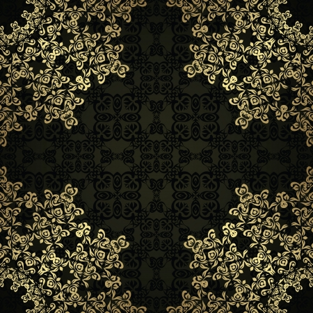 Vintage seamless wallpaper with an elegant lace pattern. Retro design   Vector
