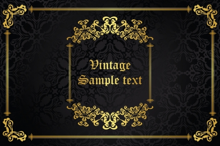Seamless wallpaper with vintage frame. Retro design      Vector