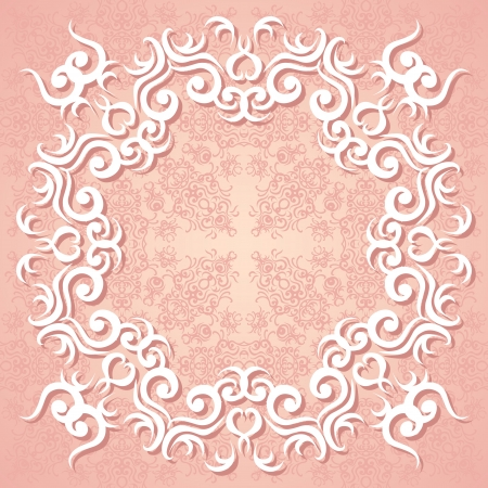 Seamless floral wallpaper with a frame in pastel colors Stock Vector - 20200759