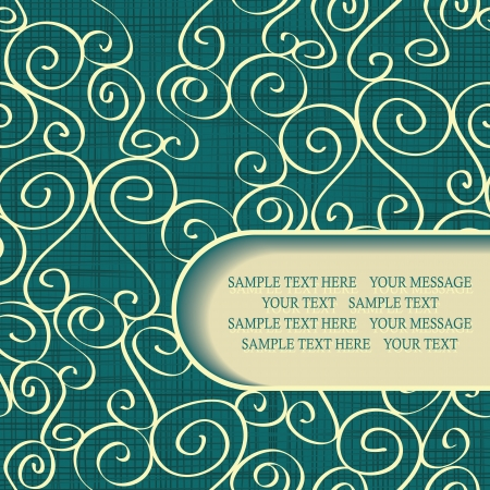 Seamless abstract hand-drawn wallpaper with place for text   Vector