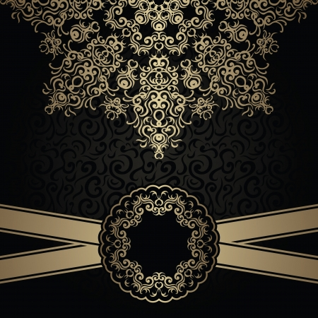 stylish: Vintage seamless background with a lace pattern and ribbon. Stylish design