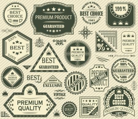 set di etichette retrò. Design vintage