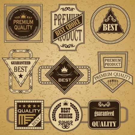 Set of retro labels  Vintage design  Retro style  Big collection