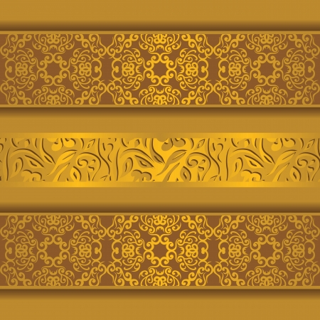 ornamental scroll: Vintage background with ribbons. Retro style. Vintage design
