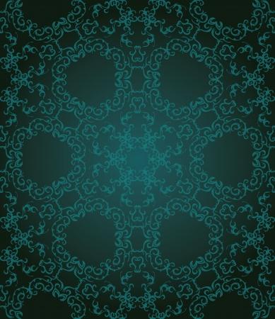 damask background: Vintage seamless pattern in blue. Seamless wallpaper. Vintage background    Illustration