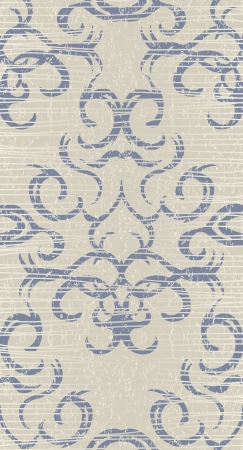 Template of seamless damask wallpaper. Vintage background. Grunge style    Vector