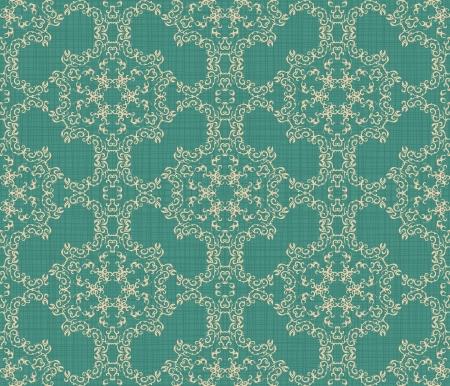 Elegant seamless wallpaper on a blue background. Grunge style. Retro design       Vector