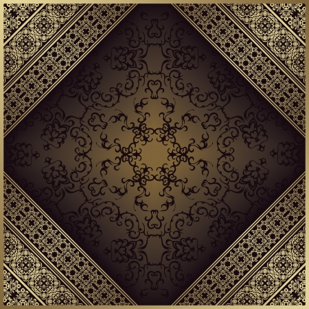 bronze background: Vintage background with a frame. Original design. Can be used as a card    Illustration