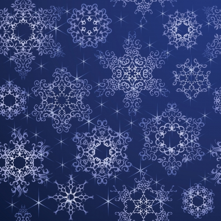 Seamless background with snowflakes. Winter design. Can be used for decoration for Christmas cards    Vector