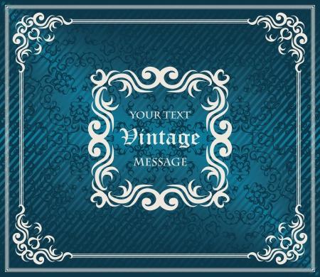 Elegant vintage frame. Seamless background. Original style, luxury design      Vector