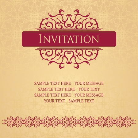 Vintage seamless floral background with a vintage decoration Stock Vector - 22305101