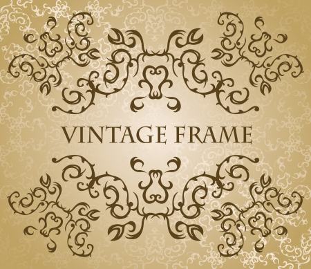wedding backdrop: Vintage frame in pastel colors. Original style. Vintage seamless wallpaper