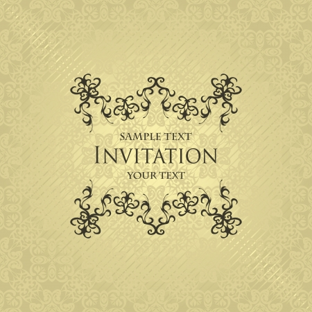 Vintage seamless background with a vintage frame. Stylish invitation             Vector