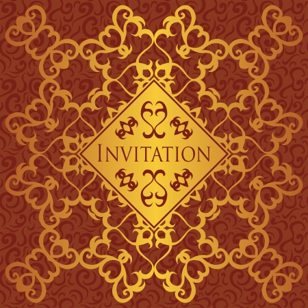 Vintage seamless floral background with a vintage pattern. Luxury design             Vector