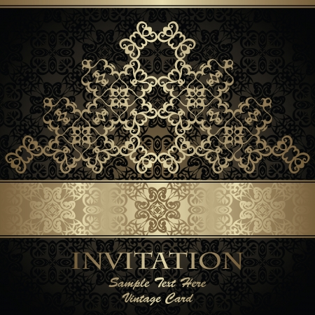 Elegant vintage background. Luxury design              Vector