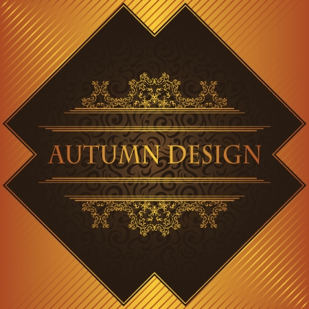Luxury vintage frame. Can be used as invitation. Autumn design  Vector