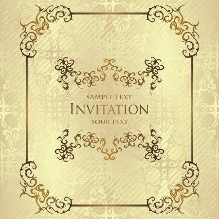Vintage seamless background. Vintage frame. Stylish invitation             Vector