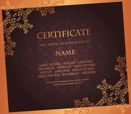 certificate design: Vintage background. Can be used as certificate, diploma. Luxury design