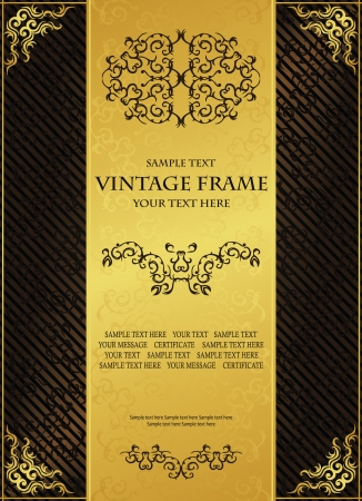 Vintage background. Luxury design.  Can be used as certificate, diploma and other             Vector