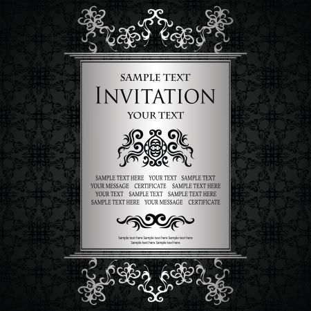 Vintage background with a luxury frame. Luxury design                  Illustration