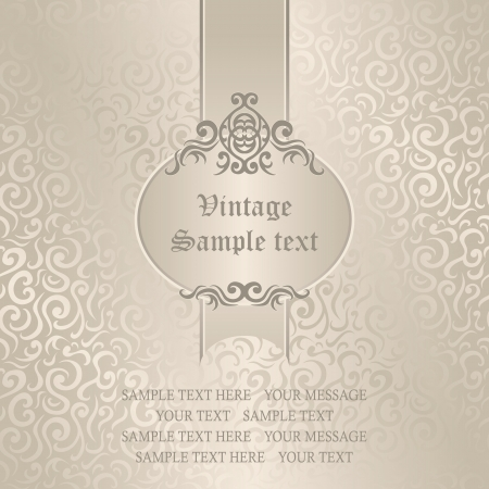 Seamless floral background. Wedding invitation in pastel colors