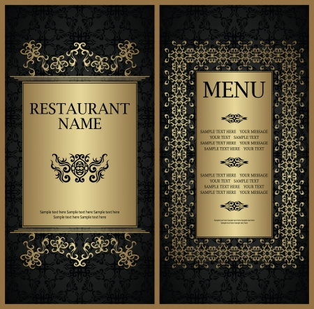 Template of restaurant menu. Stylish design   Vector