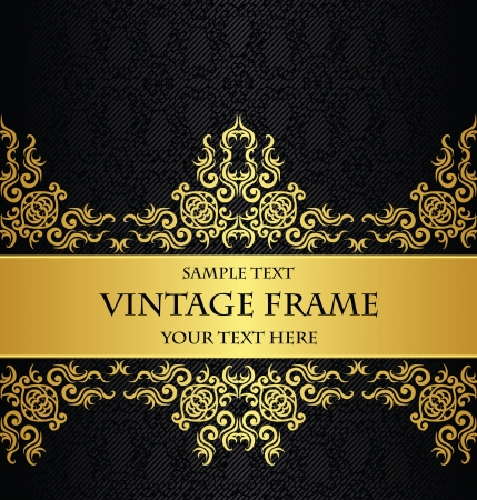 Vintage decorative border in gold. Seamless background. Luxury design   Vector