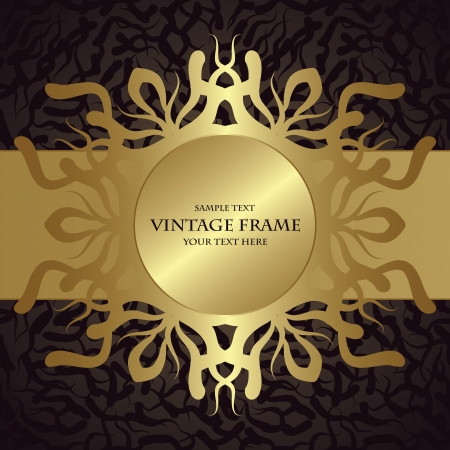 wallpaper abstract: Vintage card with frame  Seamless wallpaper  Abstract background