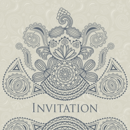 Elegant floral design. Seamless background. Can be used as wedding invitation. Pastel colors    Vector