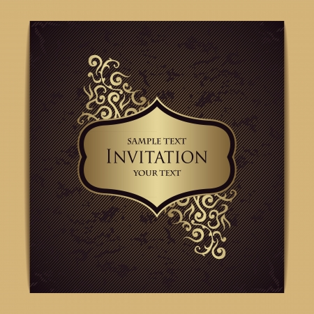 Stylish card with floral frame and grunge background. Floral design                   Vector