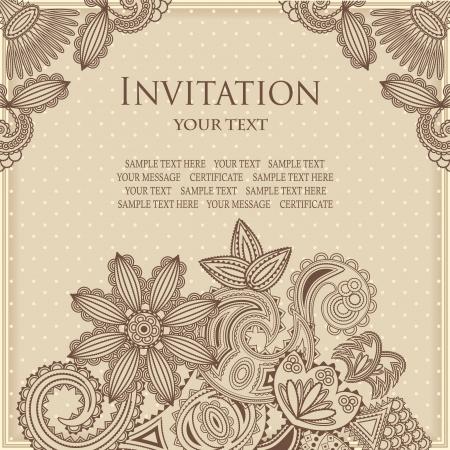 pastel colours: Tarjeta floral de la vendimia en el fondo de lunares. Colores pastel. Dise�o con estilo