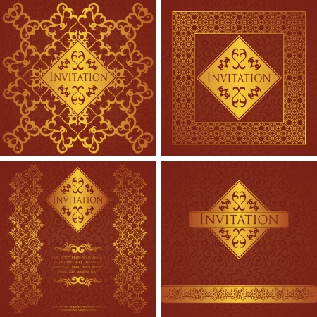 Vector set  Vintage seamless background with a vintage frame  Luxury design             Vector
