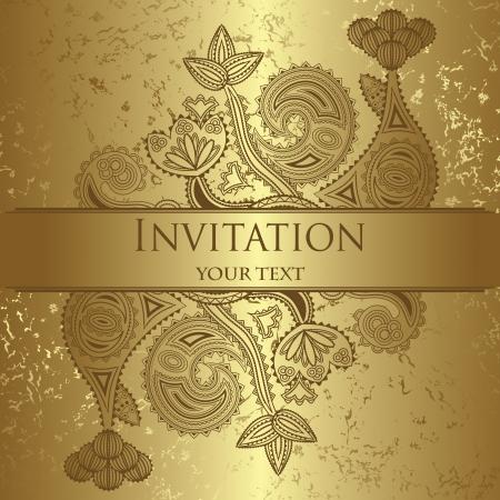 Elegant floral design. Grunge background. Can be used as wedding invitation     Vector