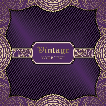 Vintage floral card. Striped background                   Vector