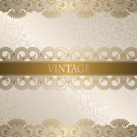 Vintage floral background  Floral borders                   Illustration