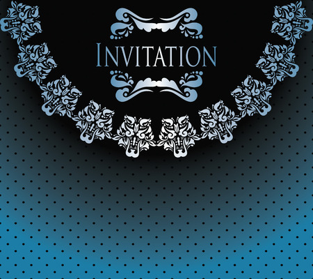Stylish invitation Seamless background with polka dots                  Vector