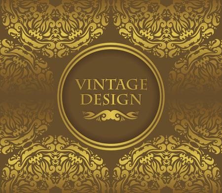 seamless background: Vintage invitation. Seamless background. Vintage design