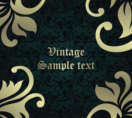 seamless background: Vintage invitation. Floral seamless background                       Illustration