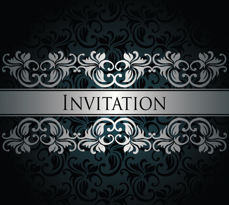 Stylish card with vintage ribbon. Seamless background. Can be used as invitation        Vector