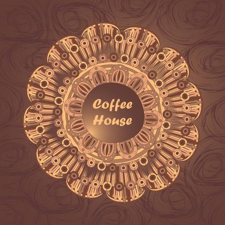 fond caf�: Vector caf� de fond avec des �l�ments floraux