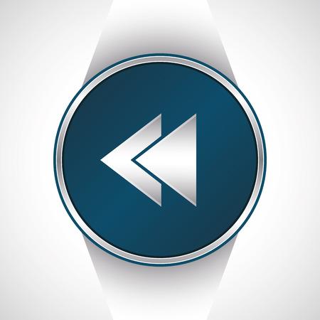 rewind icon: Rewind icon.          Illustration