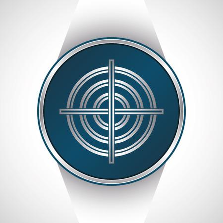 ziel icon: Zielsymbol. Vector-Taste