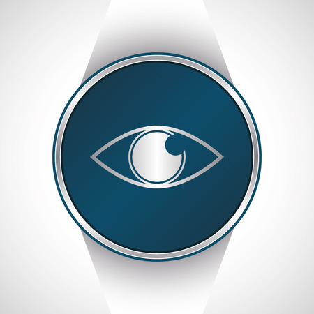 vector button: Eye icon. Vector button