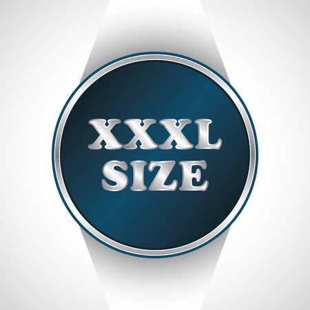 xl: Xxxl size icon. Vector button