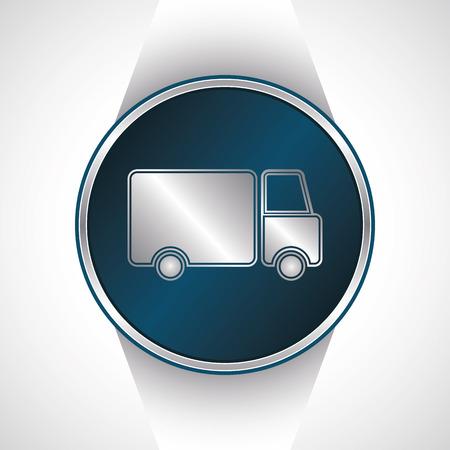 Truck icon. Vector button               Vector