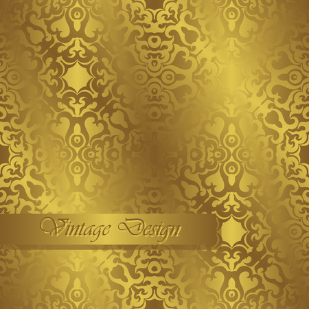 luxury template: Template of seamless wallpaper in a gold. Luxury design